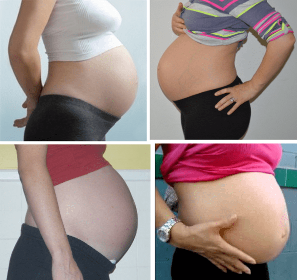 8 month pregnant belly size