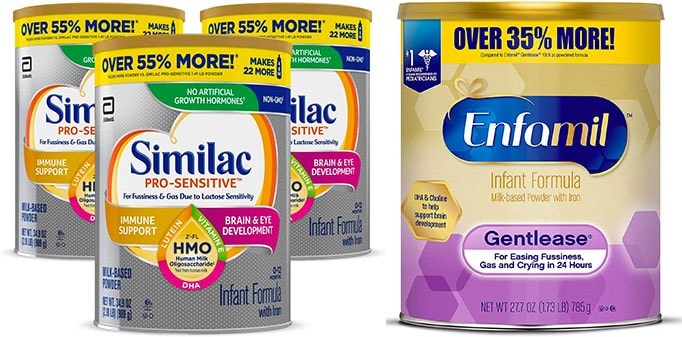 Similac Pro Sensitive vs Enfamil Gentlease